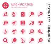 magnification icon set.... | Shutterstock .eps vector #1311781628