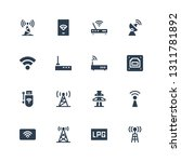 wifi icon set. collection of 16 ... | Shutterstock .eps vector #1311781892