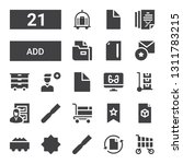 add icon set. collection of 21... | Shutterstock .eps vector #1311783215