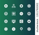 mechanism icon set. collection... | Shutterstock .eps vector #1311783302