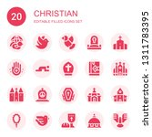 christian icon set. collection... | Shutterstock .eps vector #1311783395