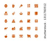 brown icon set. collection of... | Shutterstock .eps vector #1311783512