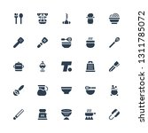 kitchenware icon set.... | Shutterstock .eps vector #1311785072