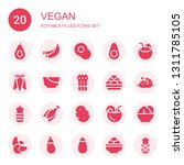 vegan icon set. collection of... | Shutterstock .eps vector #1311785105