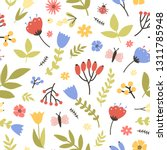 spring seamless pattern with... | Shutterstock .eps vector #1311785948