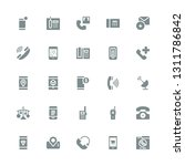 receiver icon set. collection... | Shutterstock .eps vector #1311786842