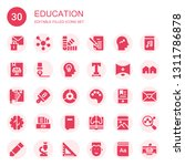 education icon set. collection... | Shutterstock .eps vector #1311786878