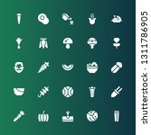 vegetable icon set. collection... | Shutterstock .eps vector #1311786905