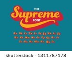 vector of stylized modern font... | Shutterstock .eps vector #1311787178