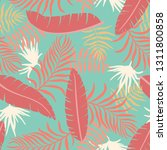 tropical background with palm...   Shutterstock .eps vector #1311800858