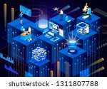 digital technology of future.... | Shutterstock .eps vector #1311807788