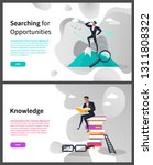 knowledge and searching for... | Shutterstock .eps vector #1311808322