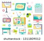 media and outdoor advertising... | Shutterstock .eps vector #1311809012