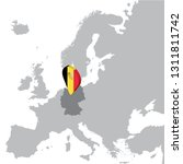 germany location map on map... | Shutterstock .eps vector #1311811742