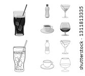 vector design of drink and bar... | Shutterstock .eps vector #1311813335