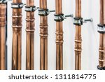 copper pipes and fittings for... | Shutterstock . vector #1311814775