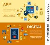 digital vector wireless smart... | Shutterstock .eps vector #1311817772
