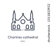 chartres cathedral icon from... | Shutterstock .eps vector #1311823922