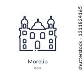 morelia cathedral in mexico... | Shutterstock .eps vector #1311824165