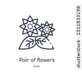 pair of flowers icon from... | Shutterstock .eps vector #1311833198