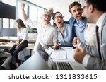 happy business people... | Shutterstock . vector #1311833615