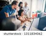 group of successful business... | Shutterstock . vector #1311834062