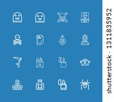 editable 16 death icons for web ... | Shutterstock .eps vector #1311835952