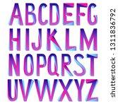 vector 3d font. tricolor... | Shutterstock .eps vector #1311836792