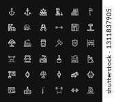 editable 36 heavy icons for web ... | Shutterstock .eps vector #1311837905