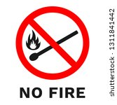 No Open Flames Sign. Burning...