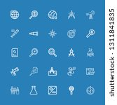 editable 25 discovery icons for ... | Shutterstock .eps vector #1311841835