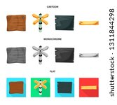 vector design of raw  and... | Shutterstock .eps vector #1311844298