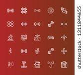 editable 25 dumbbell icons for... | Shutterstock .eps vector #1311844655