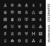 editable 36 businessman icons... | Shutterstock .eps vector #1311846935