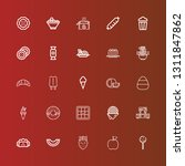 editable 25 delicious icons for ... | Shutterstock .eps vector #1311847862