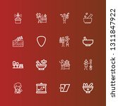 editable 16 and icons for web... | Shutterstock .eps vector #1311847922