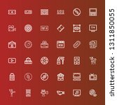 icons line film  television ... | Shutterstock .eps vector #1311850055
