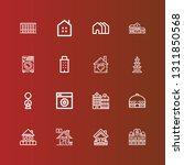 editable 16 residential icons... | Shutterstock .eps vector #1311850568
