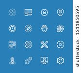 editable 16 cogwheel icons for... | Shutterstock .eps vector #1311850595