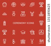 editable 22 ceremony icons for... | Shutterstock .eps vector #1311850625