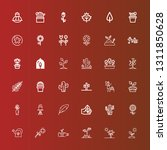 editable 36 flora icons for web ... | Shutterstock .eps vector #1311850628