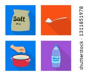 vector design of raw  and... | Shutterstock .eps vector #1311851978