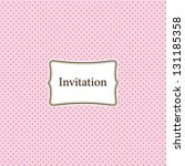 Pink Invitation Card With Polk...
