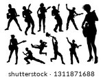 a set of guitarist musicians in ... | Shutterstock . vector #1311871688