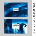 set of vector business card... | Shutterstock .eps vector #1311872402