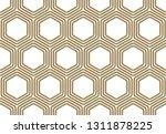 seamless pattern with golden... | Shutterstock .eps vector #1311878225