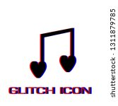 love music icon flat. simple... | Shutterstock .eps vector #1311879785