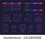 dashboard infographic hud chart ... | Shutterstock .eps vector #1311892082