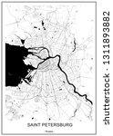 vector map saint petersburg ... | Shutterstock .eps vector #1311893882
