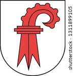 Coat of arms of canton of Basel-Landschaft is one of the 26 cantons of Switzerland. Vector illustration